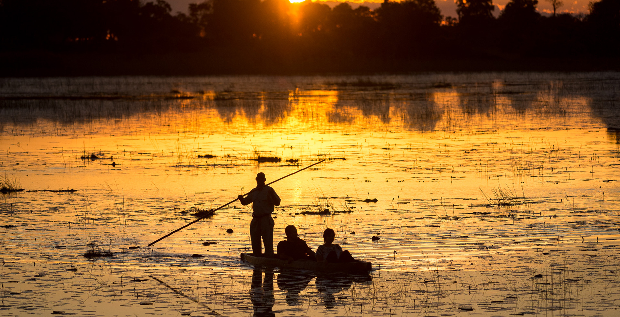 Botswana-Okavango-Delta-Rowing-Sunset