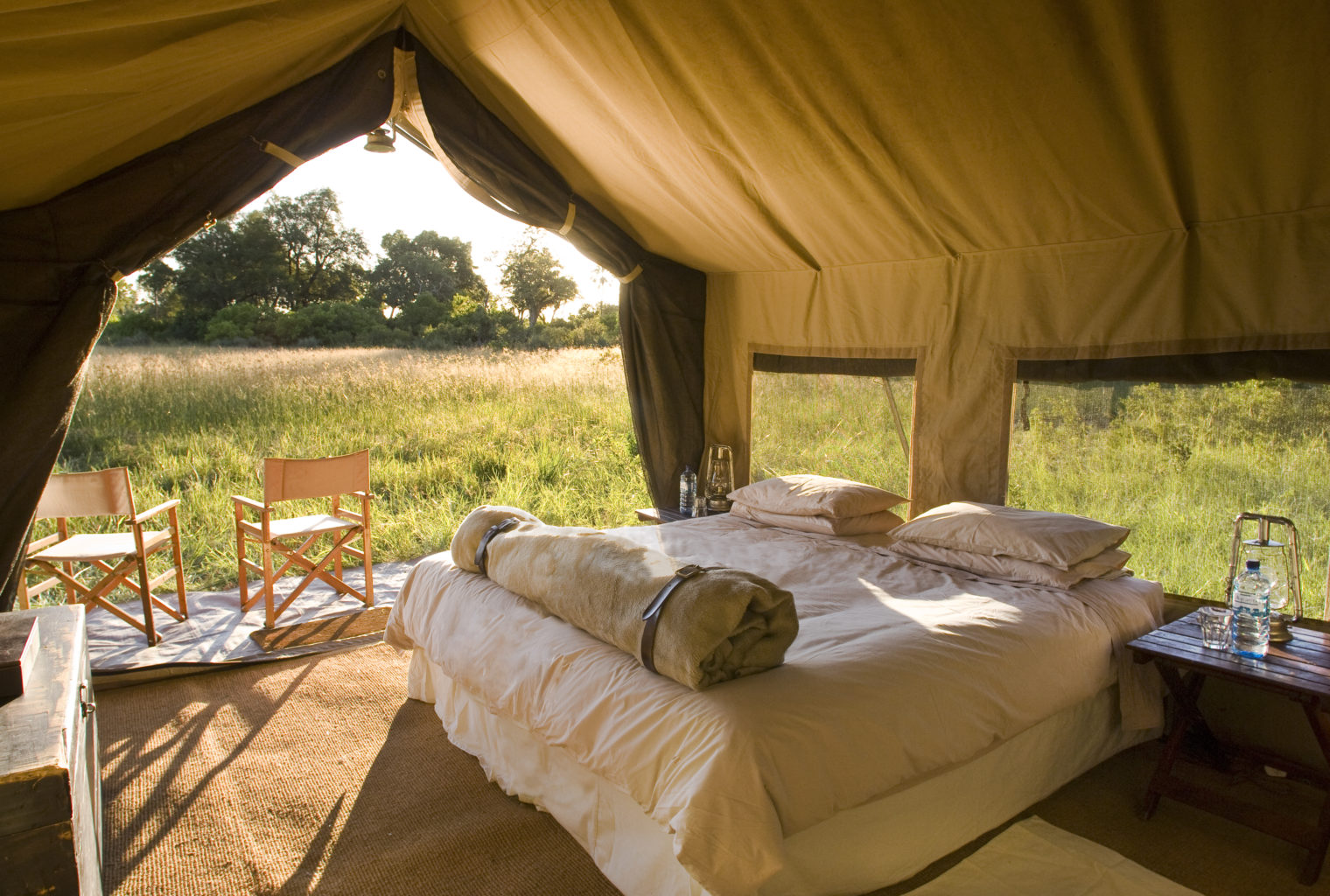and Beyond Under Canvas Bedroom