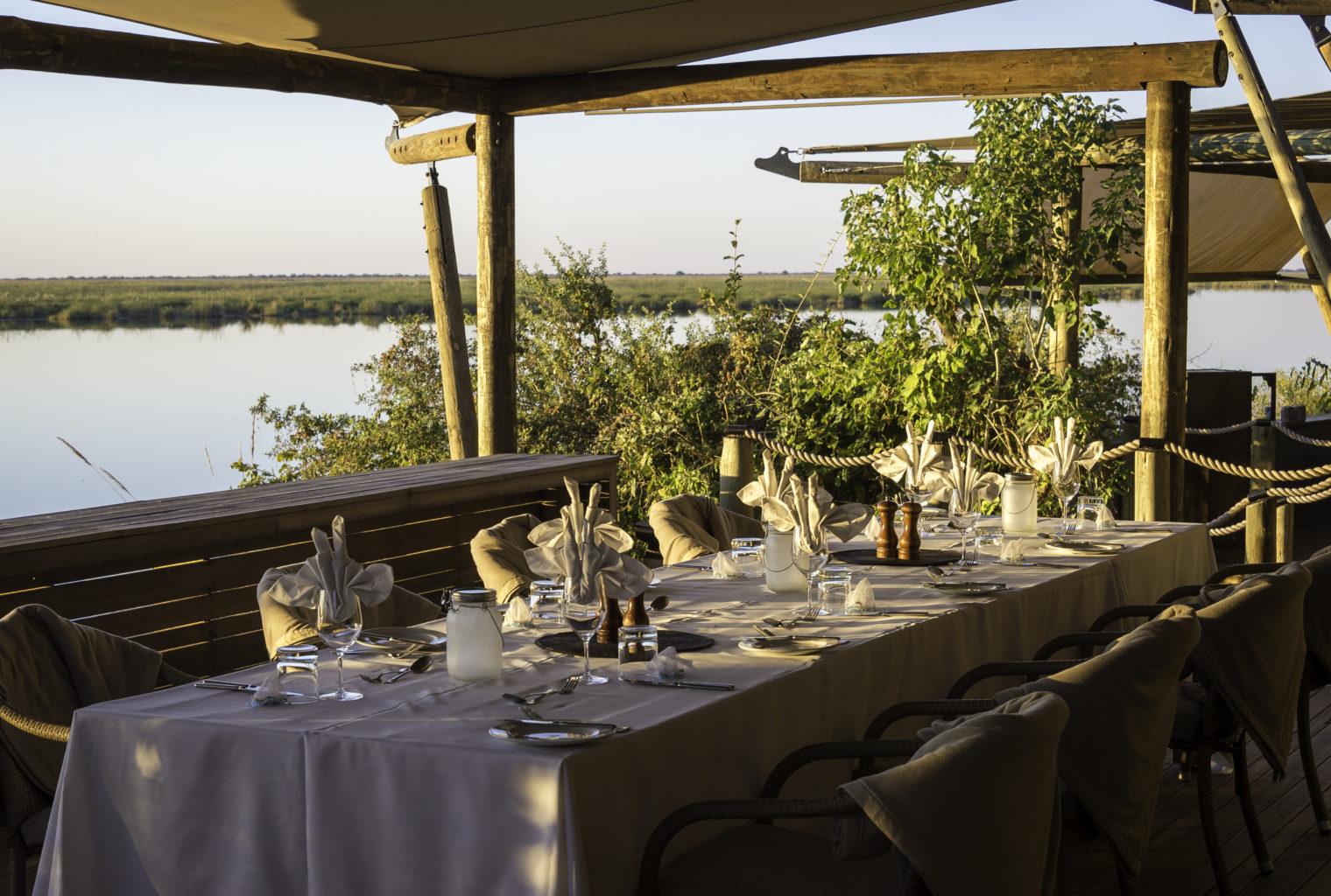 Duma Tau Lodge Botswana Dining