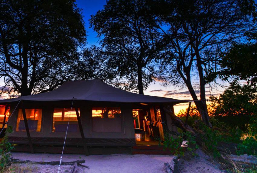 Linyanti-Bush-Camp-Botswana-Exterior-Sunset