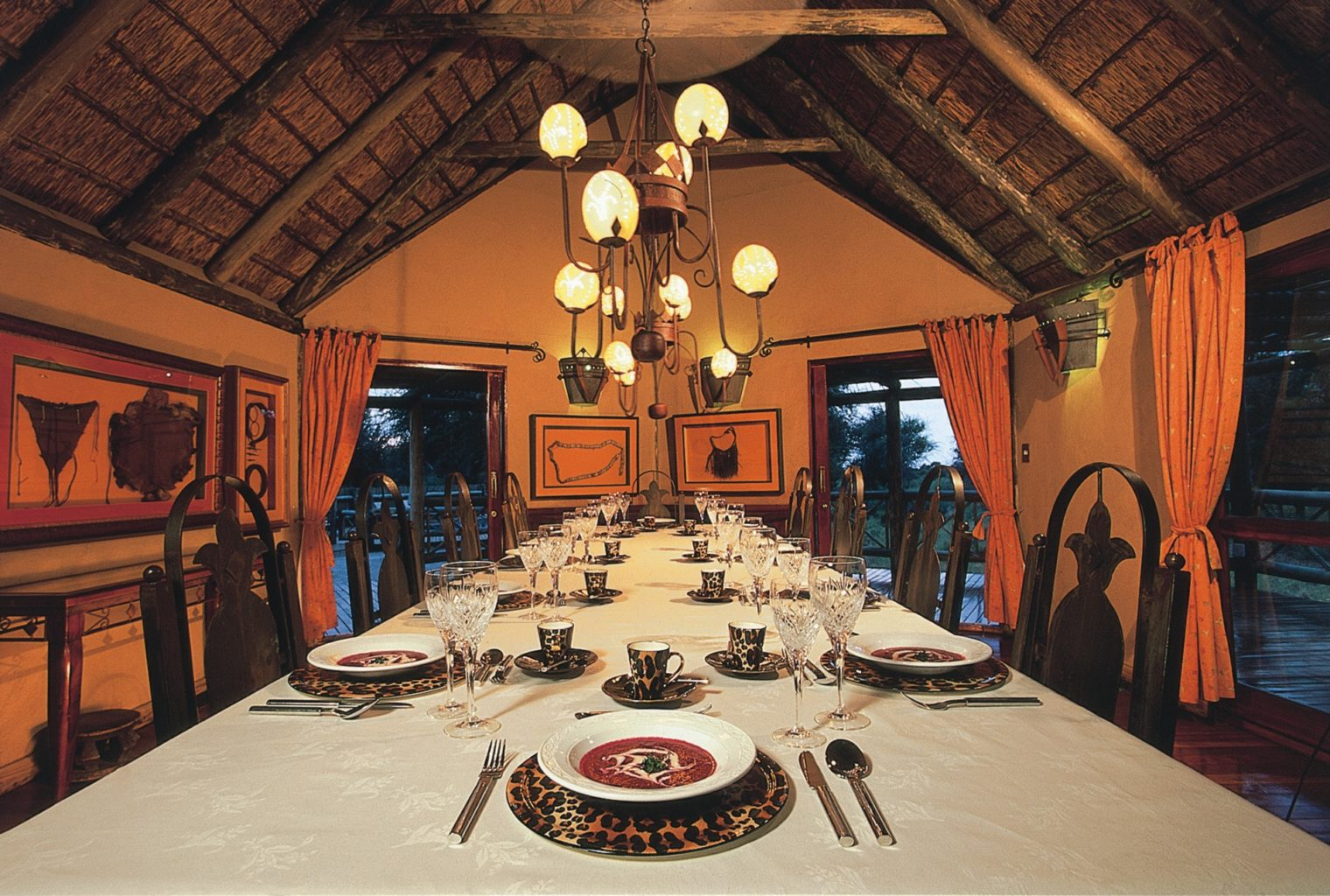 Deception Valley Lodge Botswana Table setting