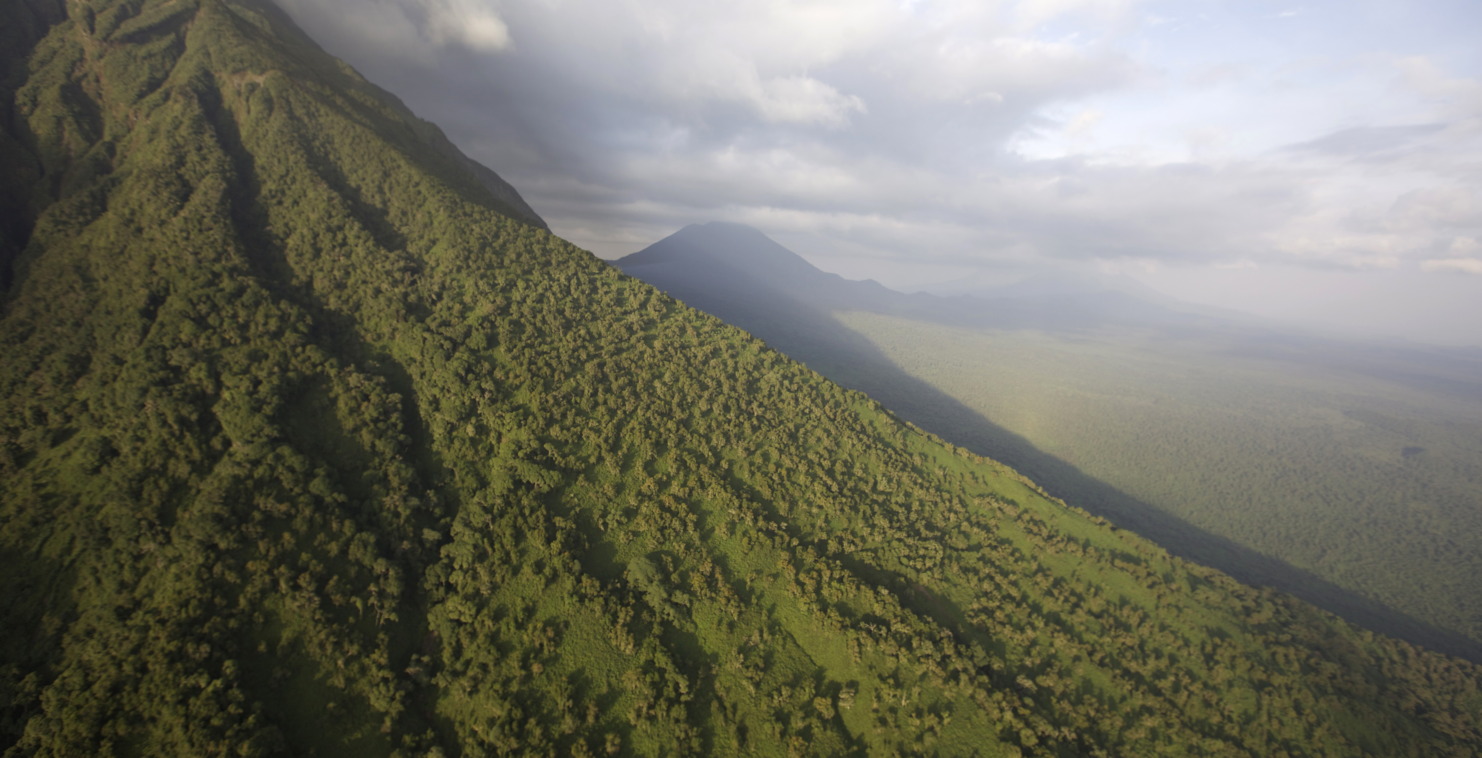 Aerial Shot of Virunga National Park by Tropic Air