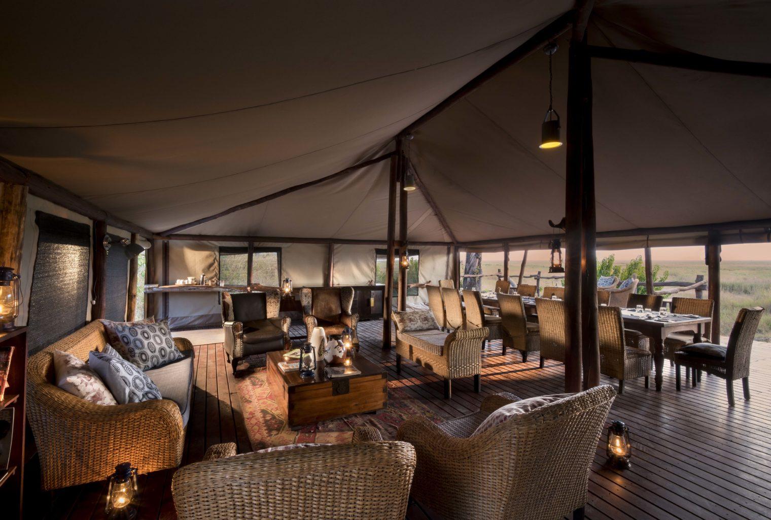 Linyanti Bush Camp Botswana Living Area