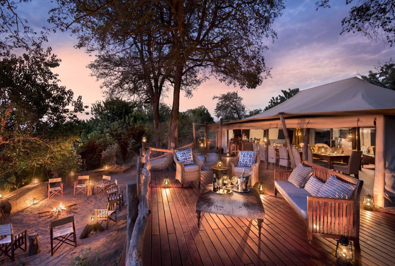 Linyanti Bush Camp Botswana Deck Area