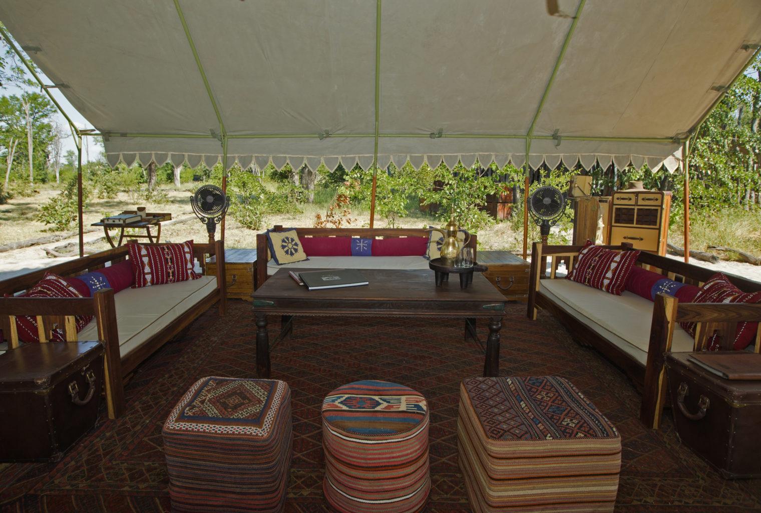 Selinda Explorers Camp Botswana lounge