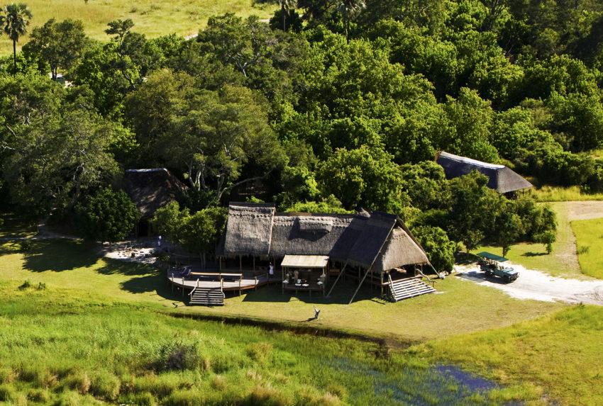 Botswana-Selinda-Camp-Aerial