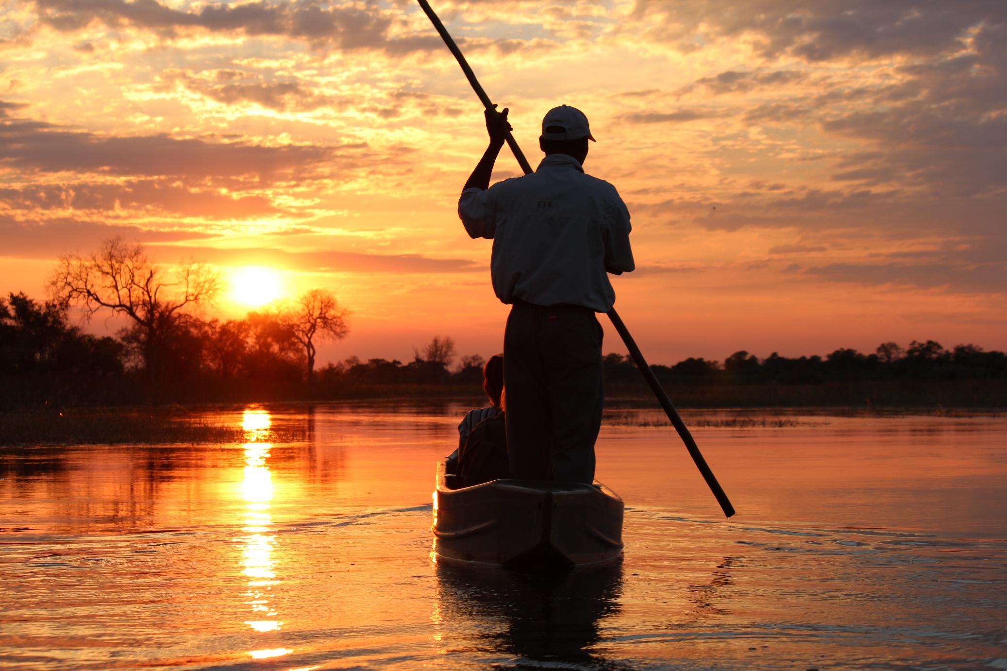 RAW Motswiri Botswana boating sunset