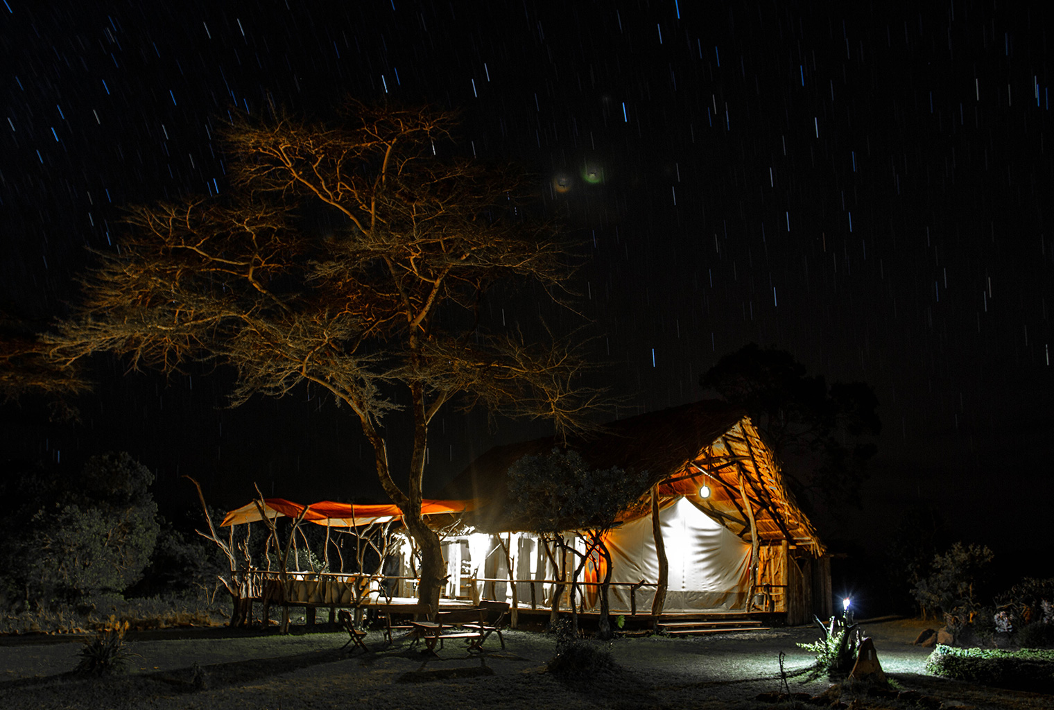 Ekorian's-Mugie-Camp-Night-Exterior