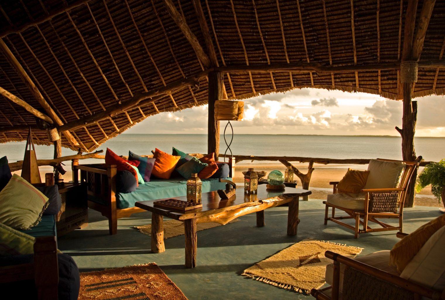Manda Bay Lodge Kenya Sunrise lounge