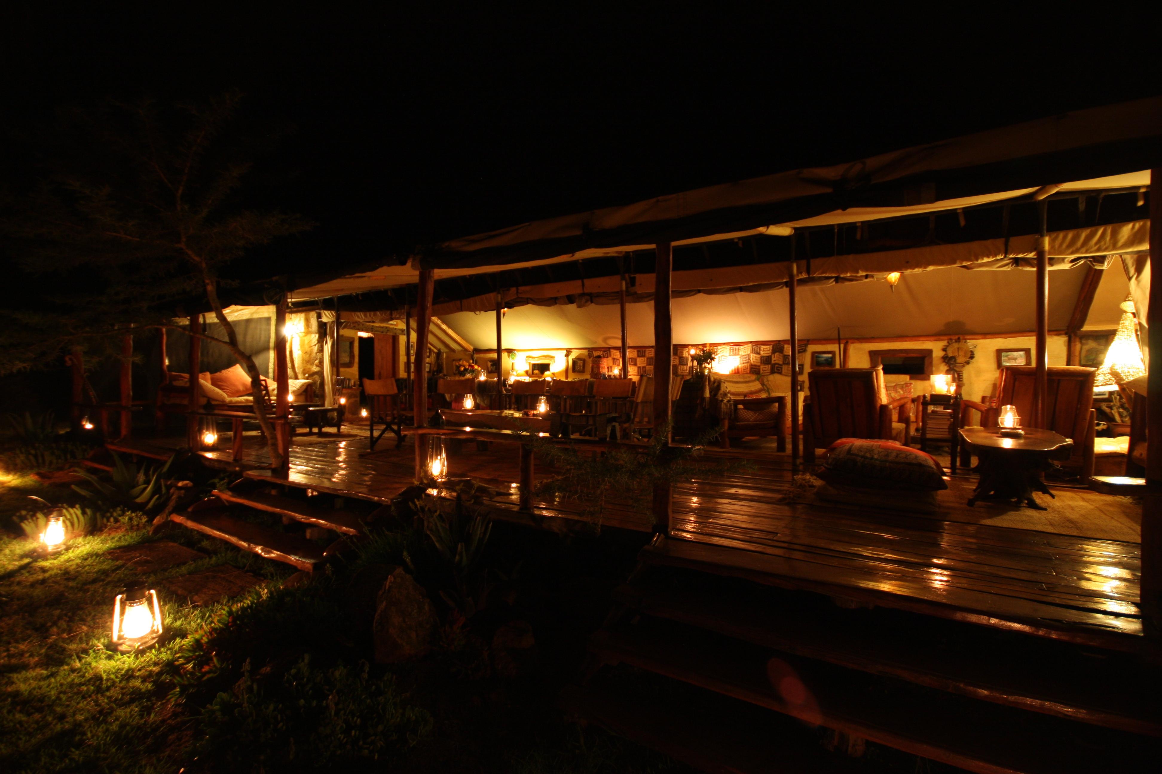 Enasoit Kenya Camp Evening Exterior