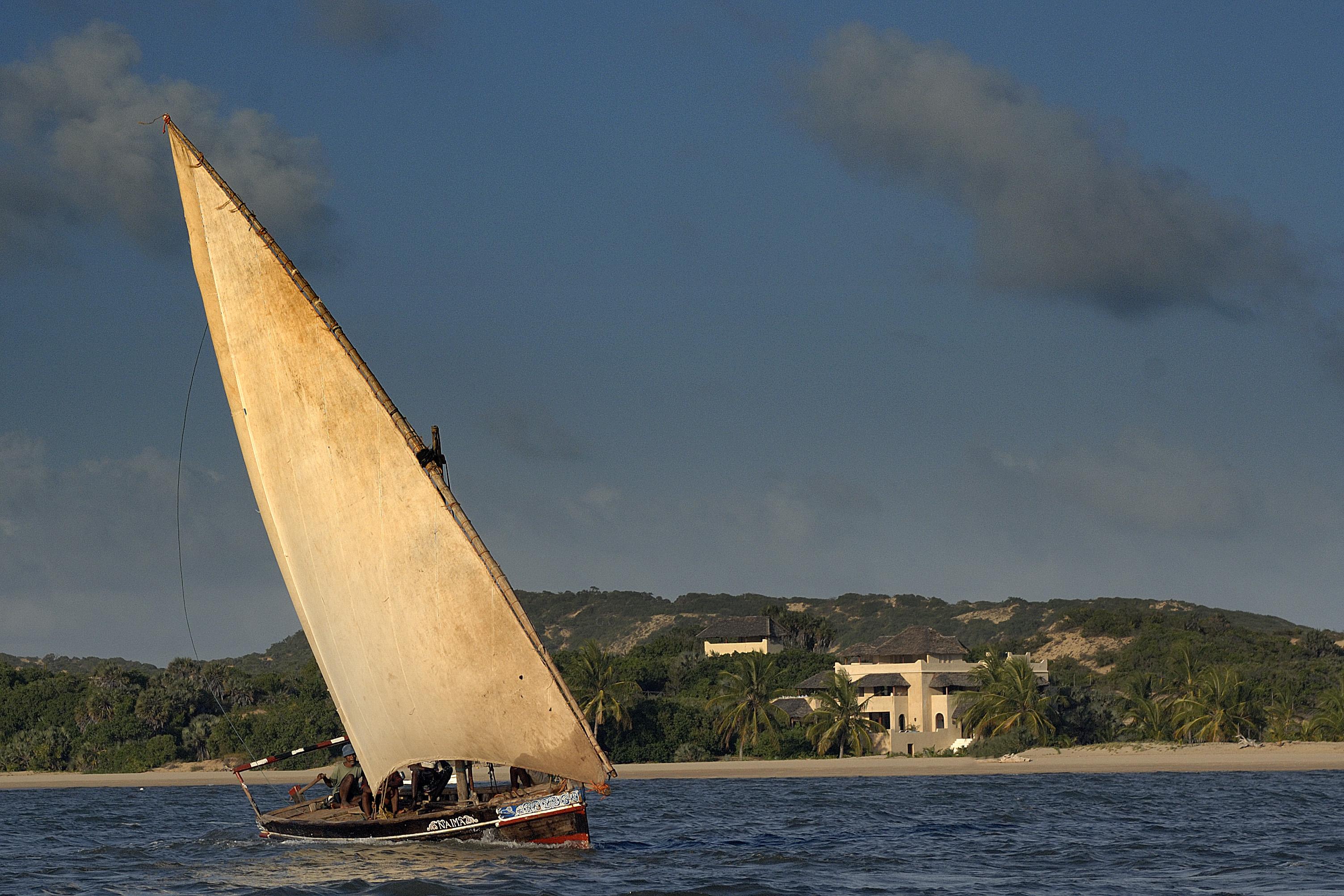 Kizingoni Villas Kenya Boat