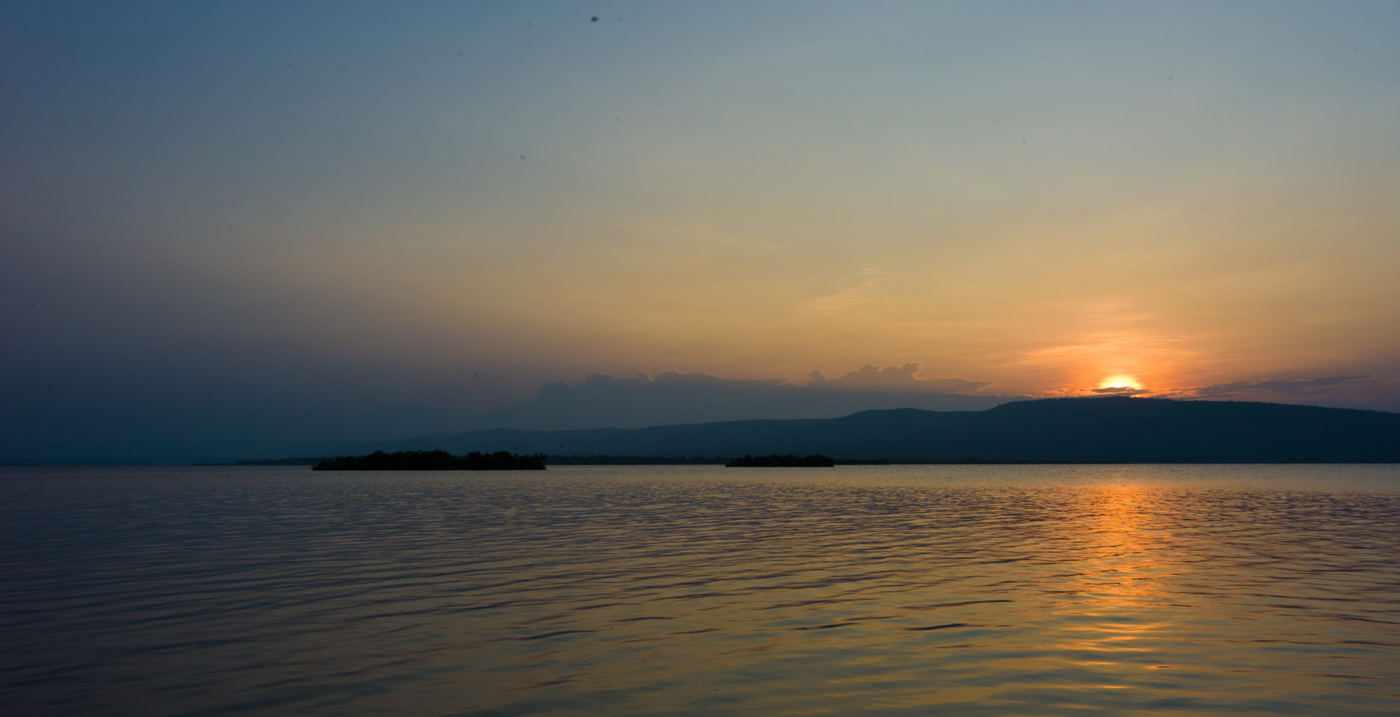 Sunset over an Akagera lake