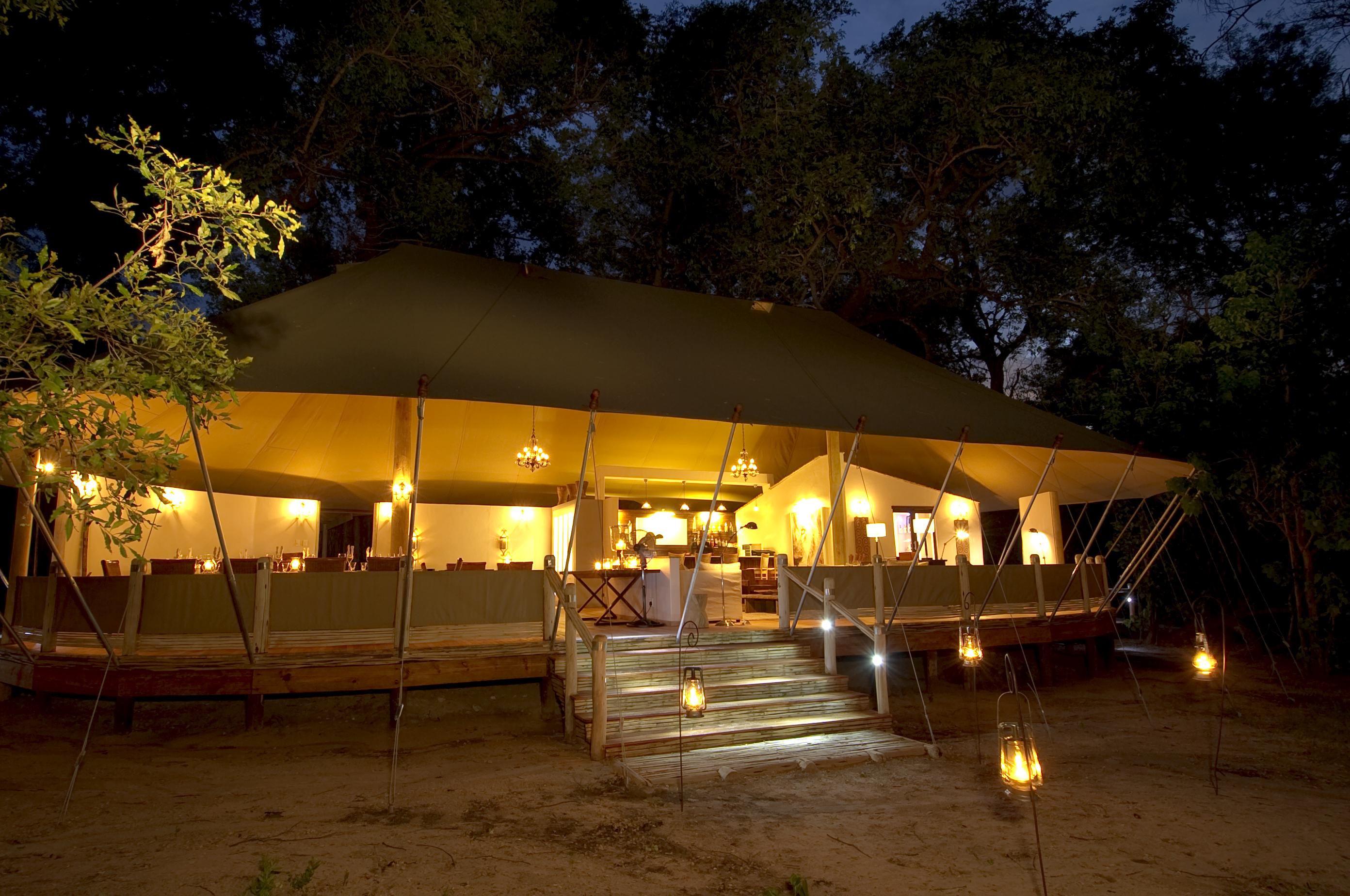 Stanleys Camp Botswana Night Exterior