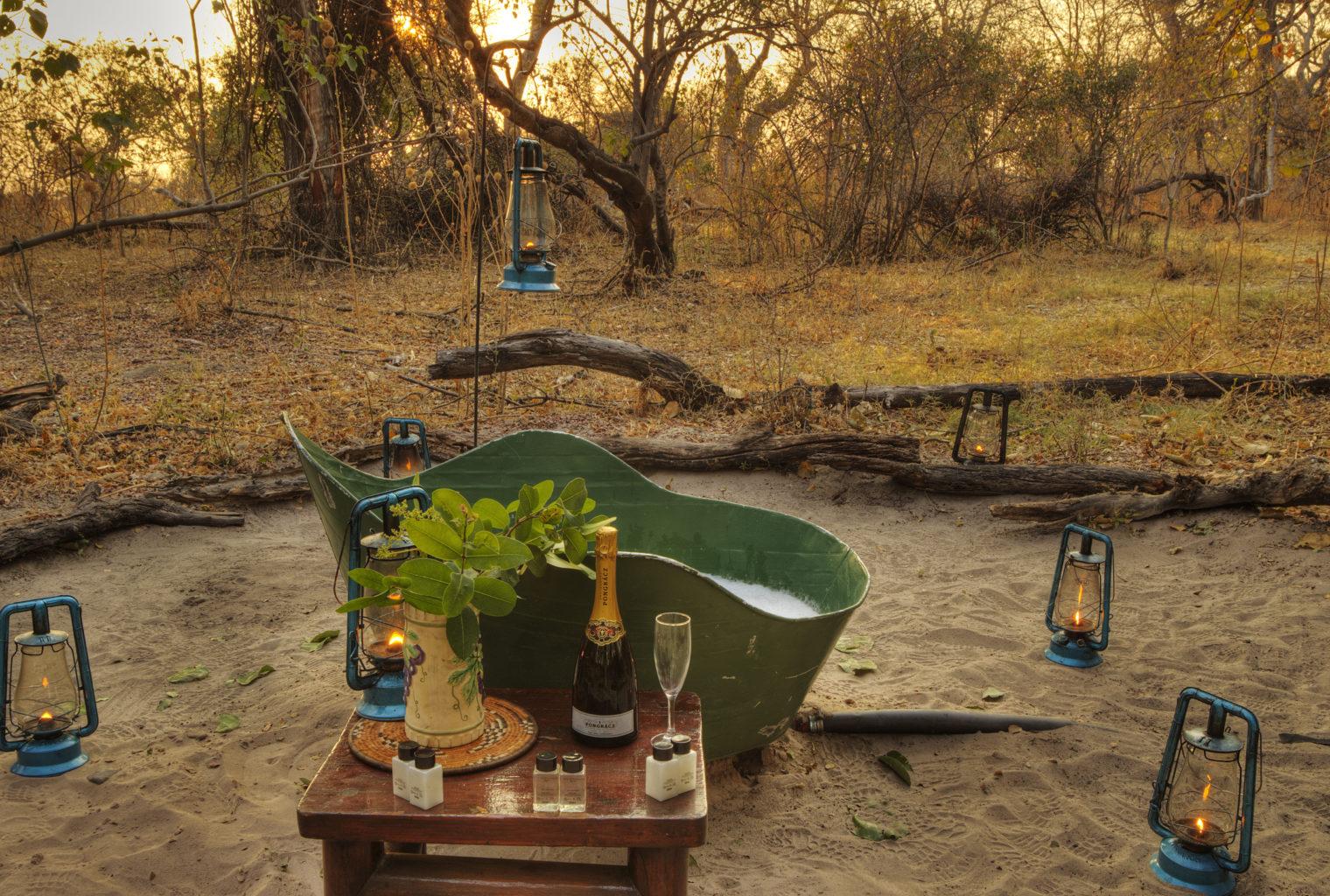 Footsteps across the Delta Botswana Bath