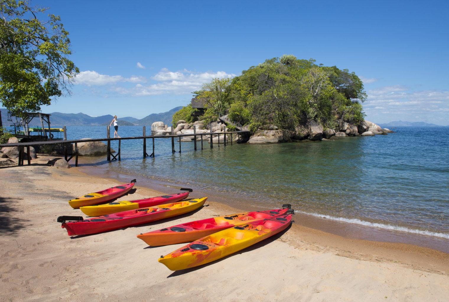 Mumbo Island Lodge Malawi Kayak