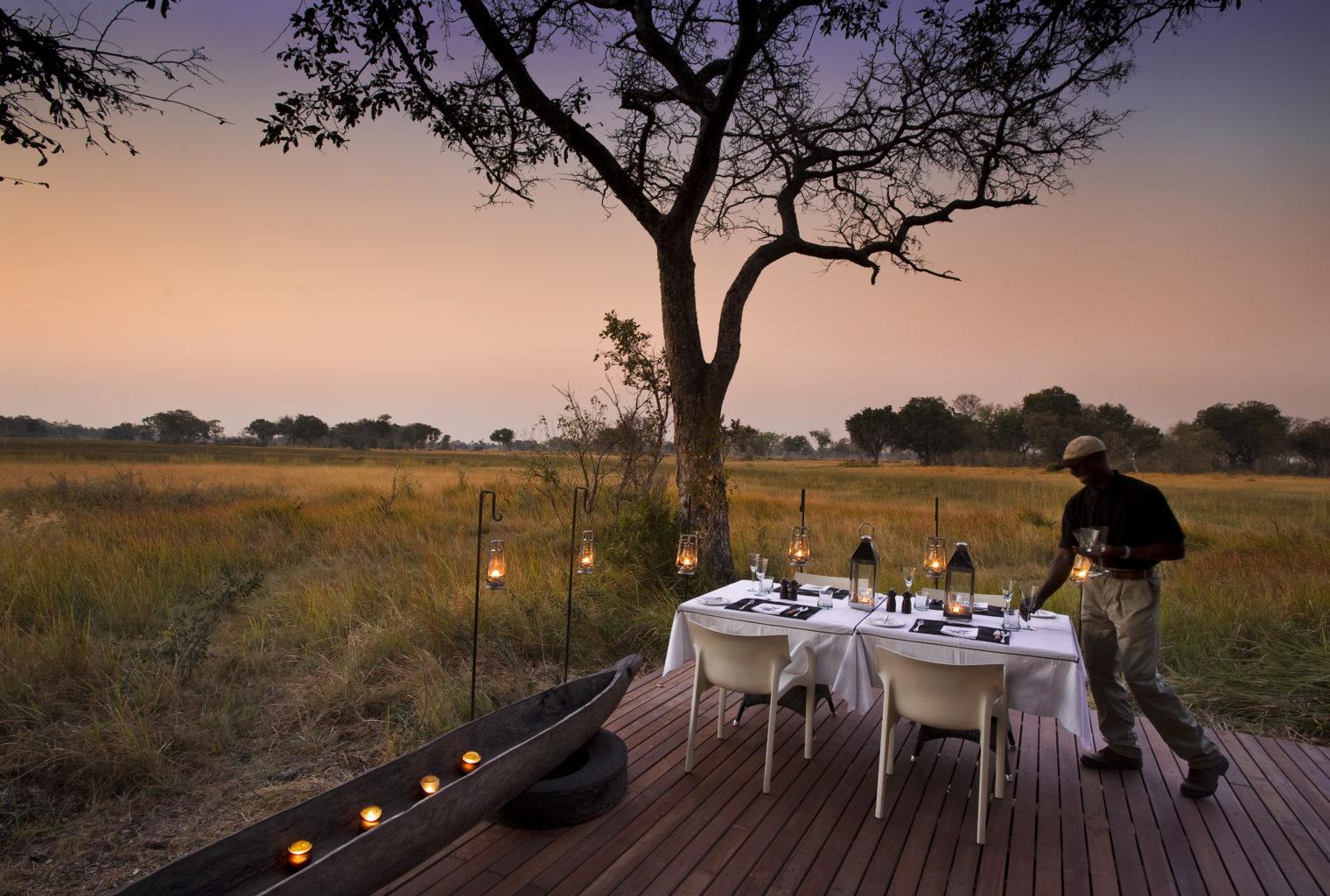 Xudum Okavengo Delta Lodge Botswana Dining