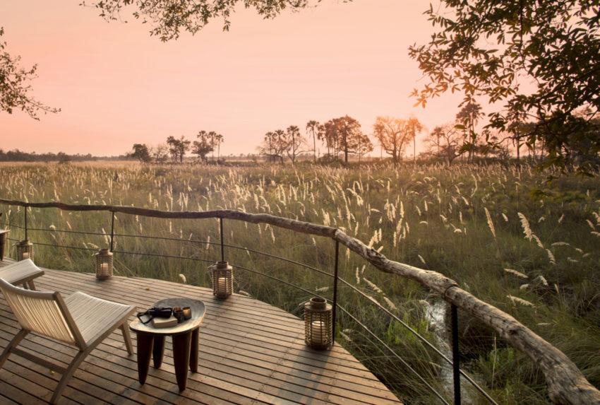 Deck view, Sandibe, Okavango Delta, Botswana
