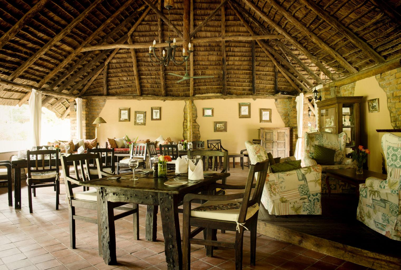 Dining room Rivertrees Tanzania