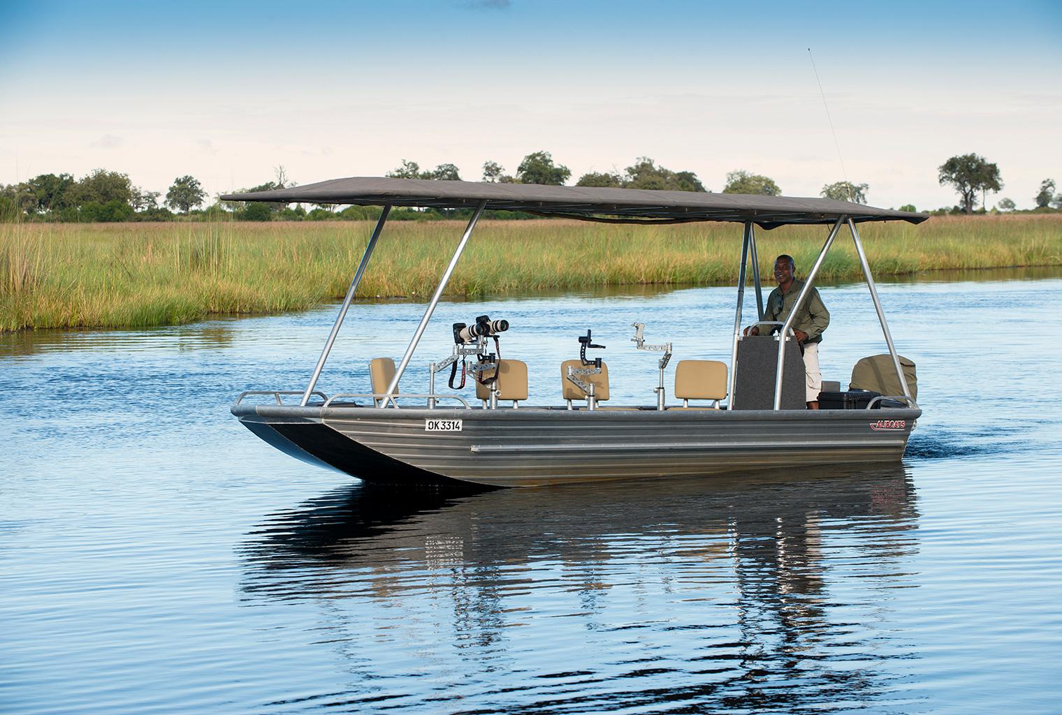 Duba-Plains-Botswana-Boat-Activity