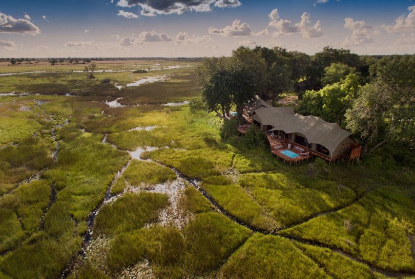 Duba Plains Botswana Okavango Aerial