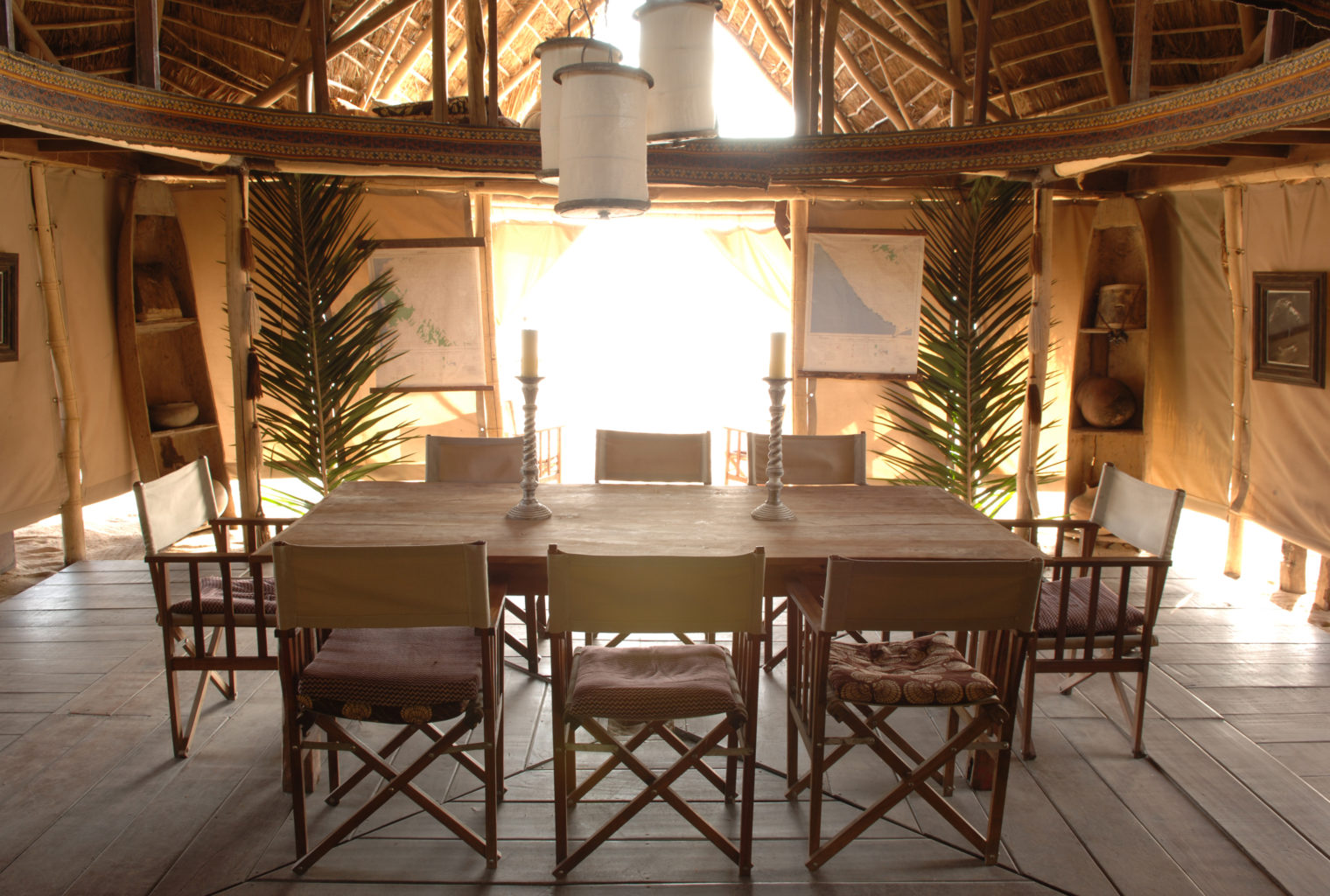 Greystoke Mahale Tanzania Exterior Dining Interior