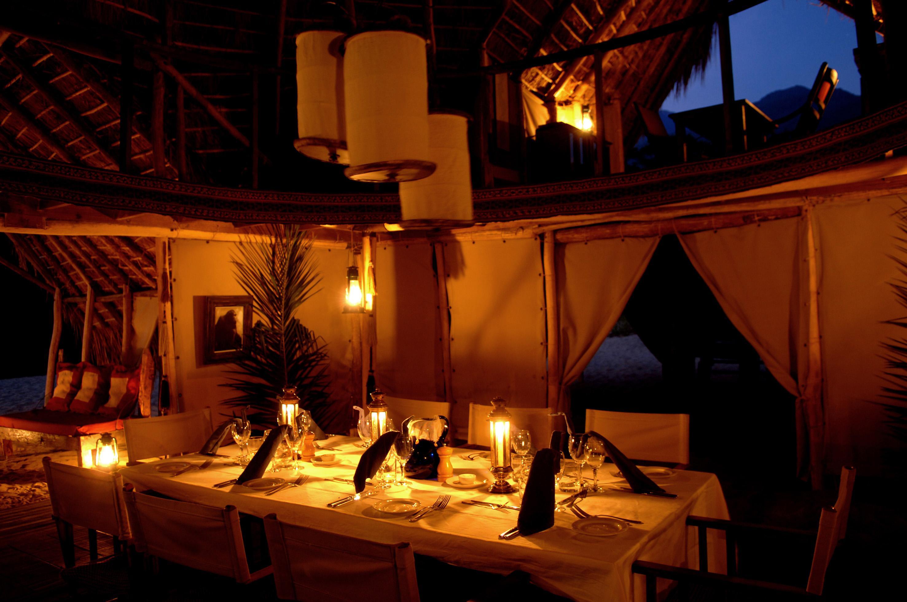 Greystoke Mahale Tanzania Exterior Dining