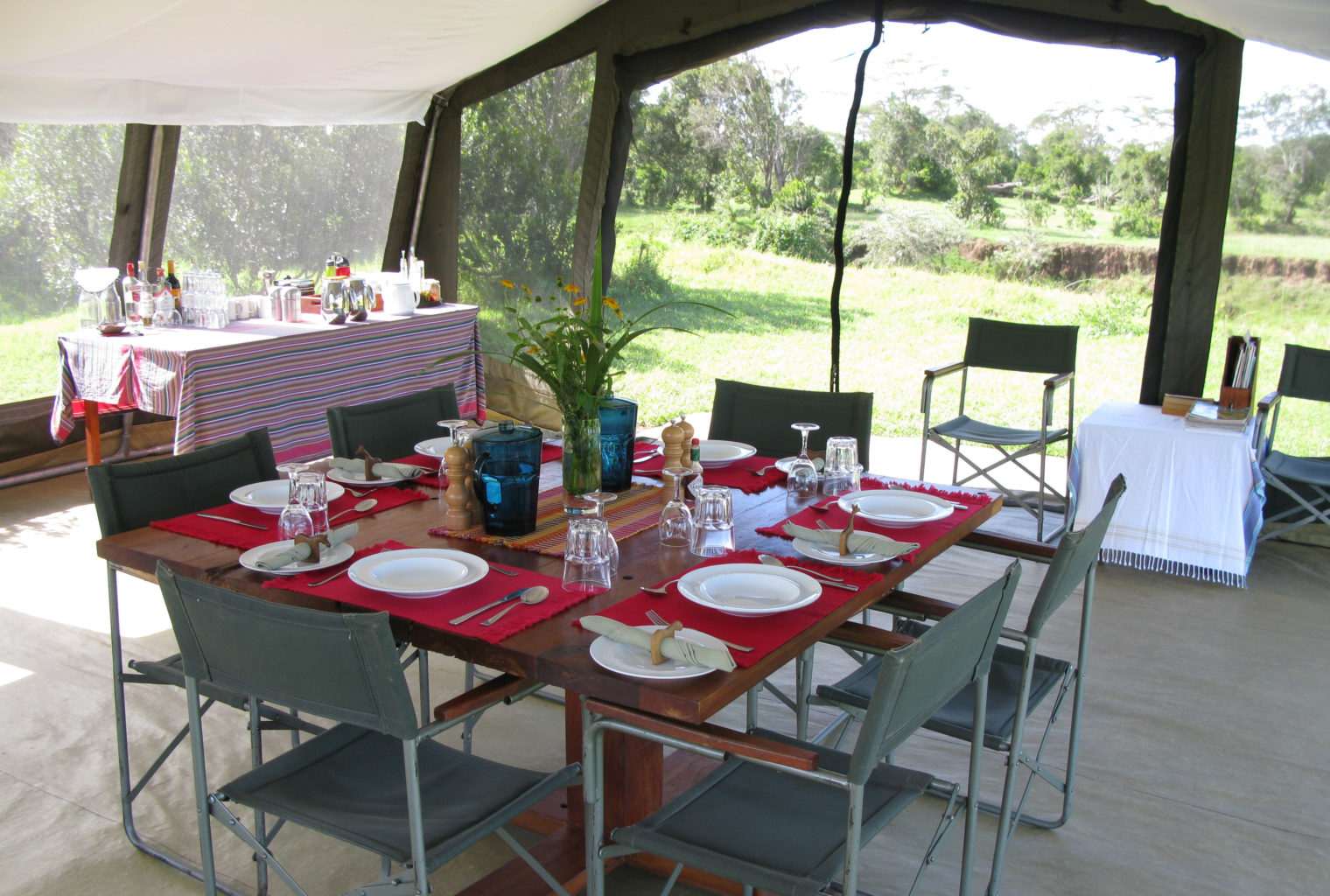 Ol Pejeta bush Camp Kenya Dining