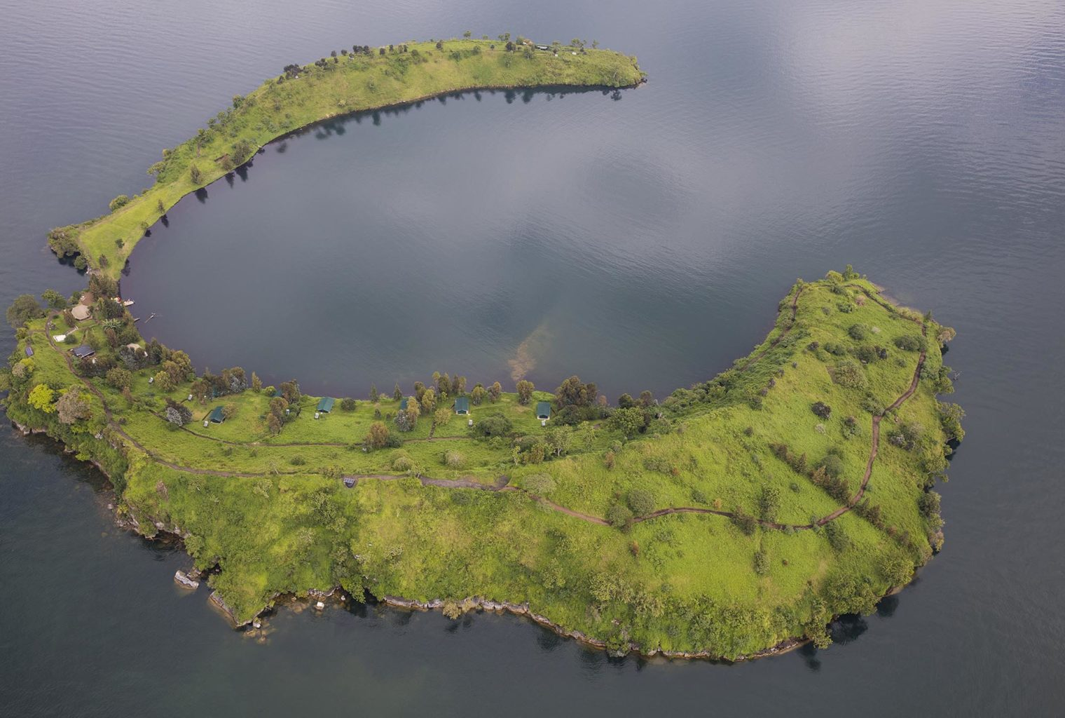 Mikeno Lodge DRC Aerial