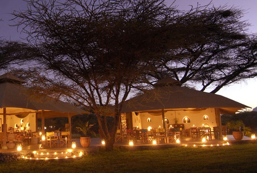 Joys Camp Kenya Exterior Dusk