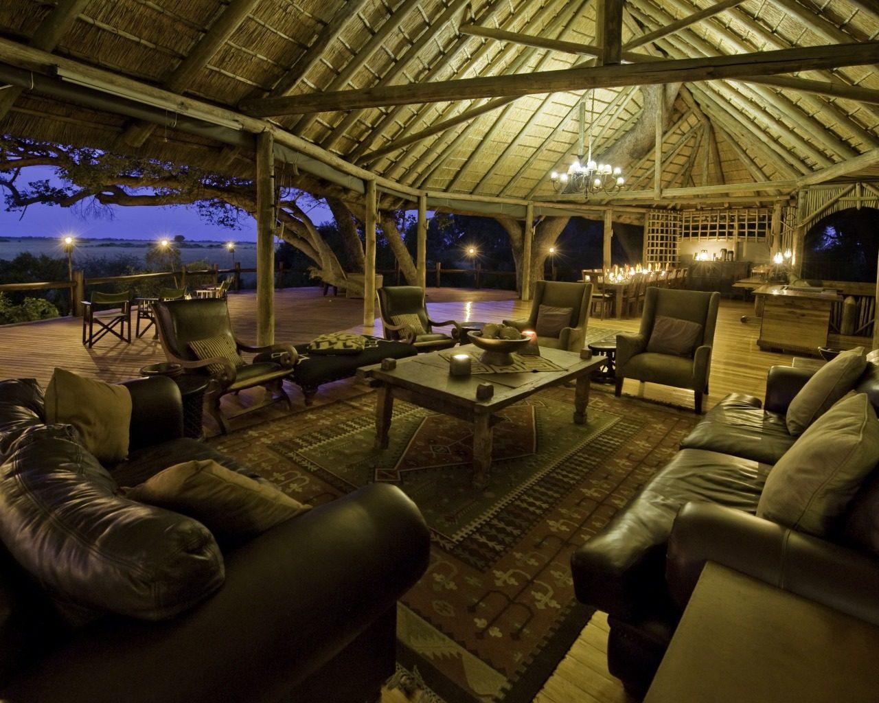 Botswana, Okavango Delta, Kwetsani Lounge