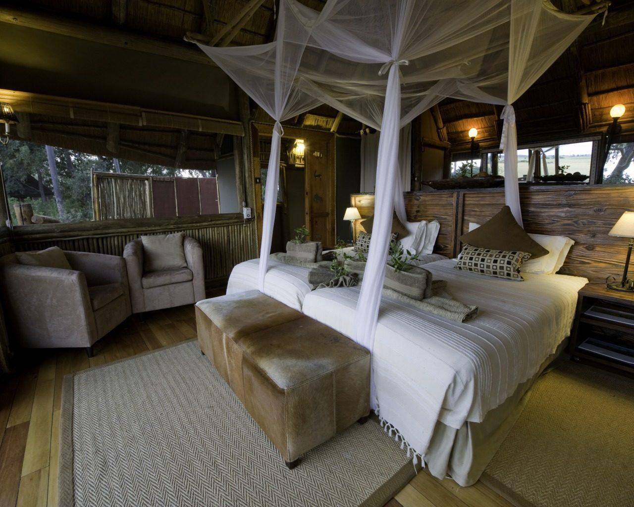 Botswana, Okavango Delta, Kwetsani Bedroom