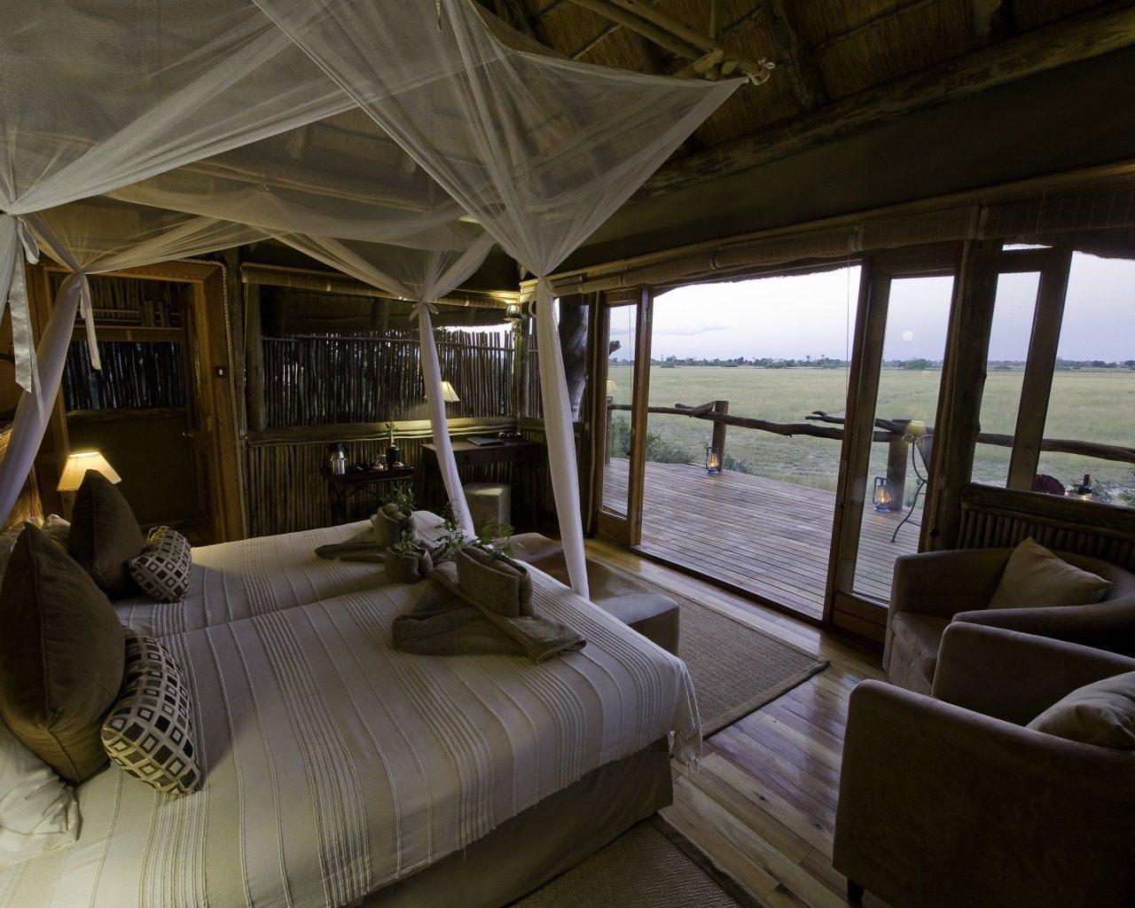 Botswana, Okavango Delta, Kwetsani Bedroom 2