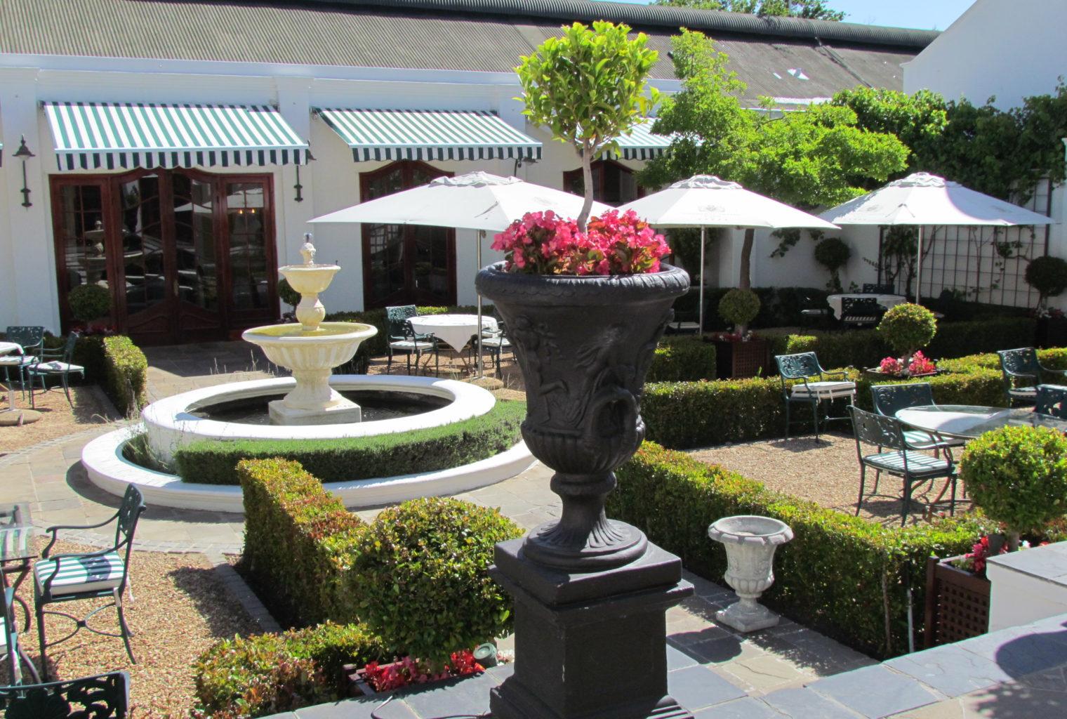 Lanzerac South Africa Courtyard