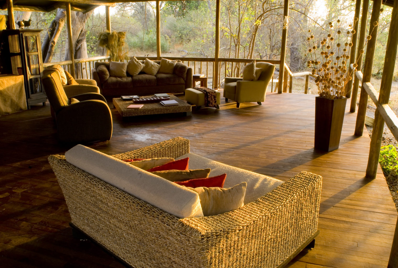 Little Kwara Camp Botswana Lounge