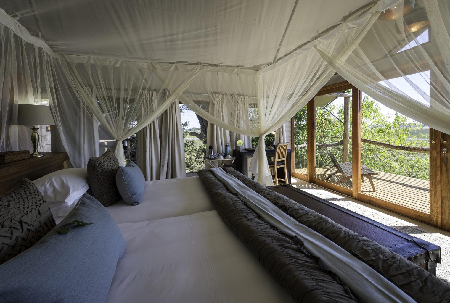 Botswana Tubu Tree Camp Bedroom