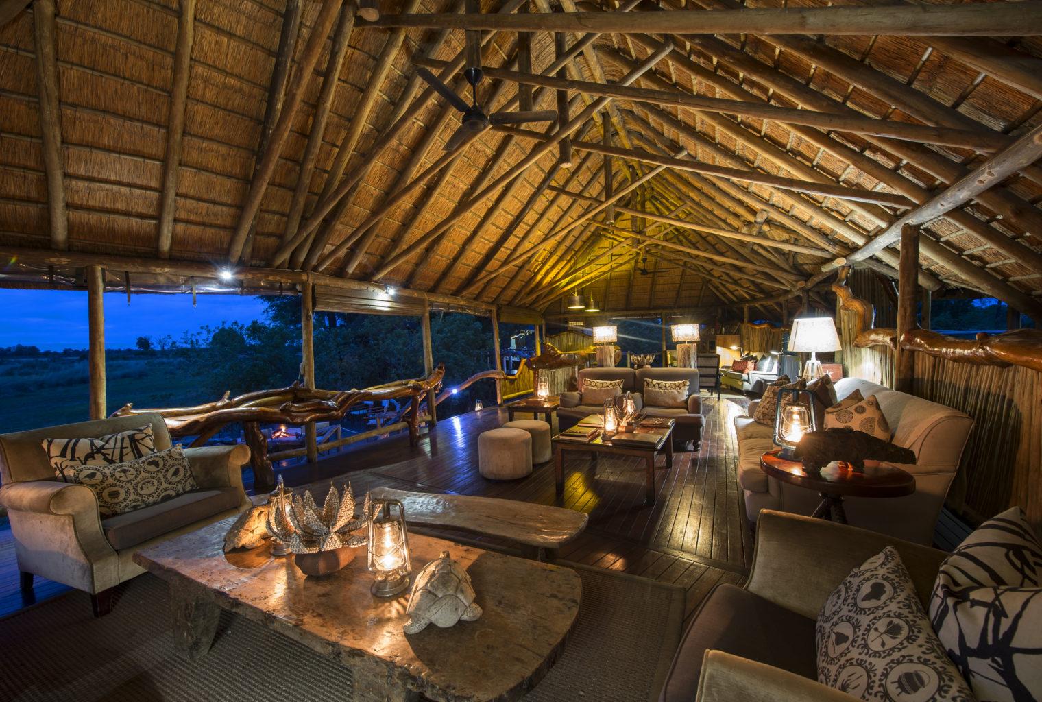 Botswana, Chitabe Camp, Lounge