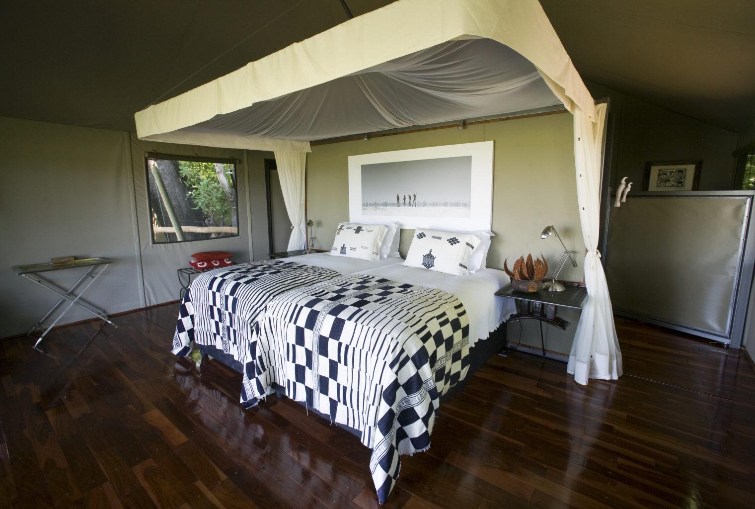 Botswana, Chitabe Camp, Bedroom