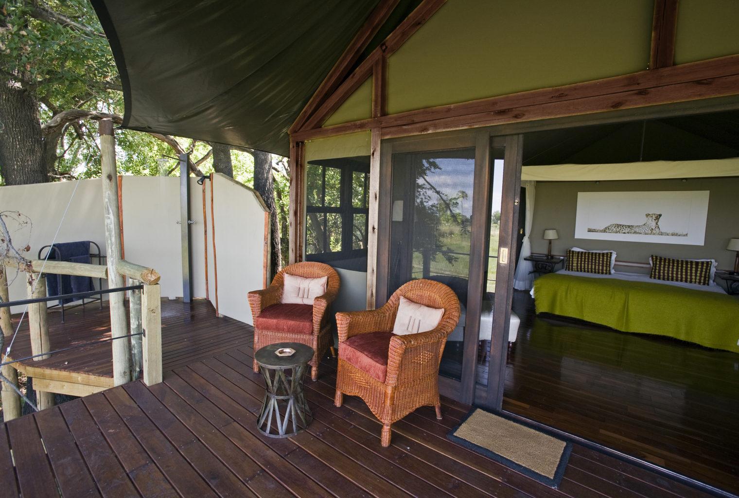 Botswana, Chitabe Camp, Deck