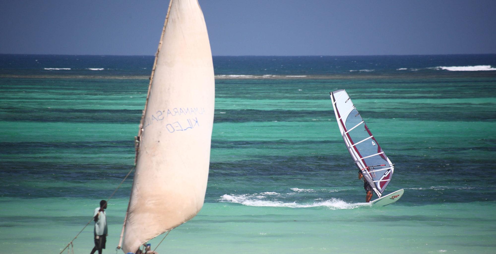Almanara Diani Resort Kenya Windsurfing