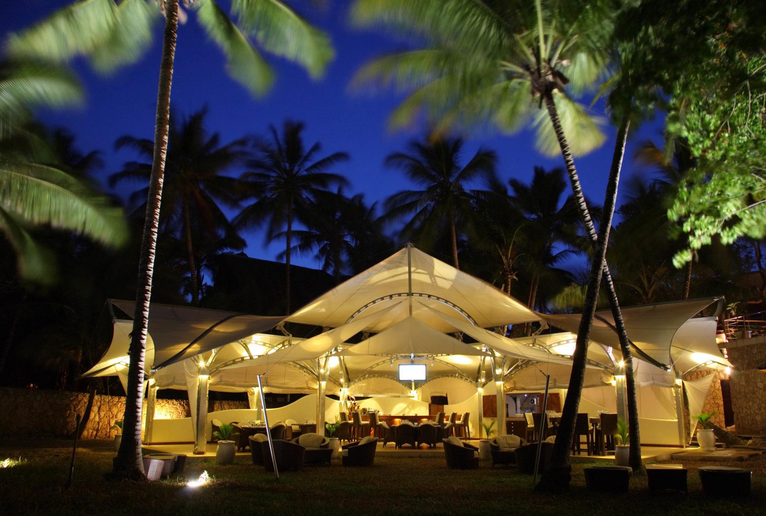 Almanara Diani Resort Kenya Night Exterior