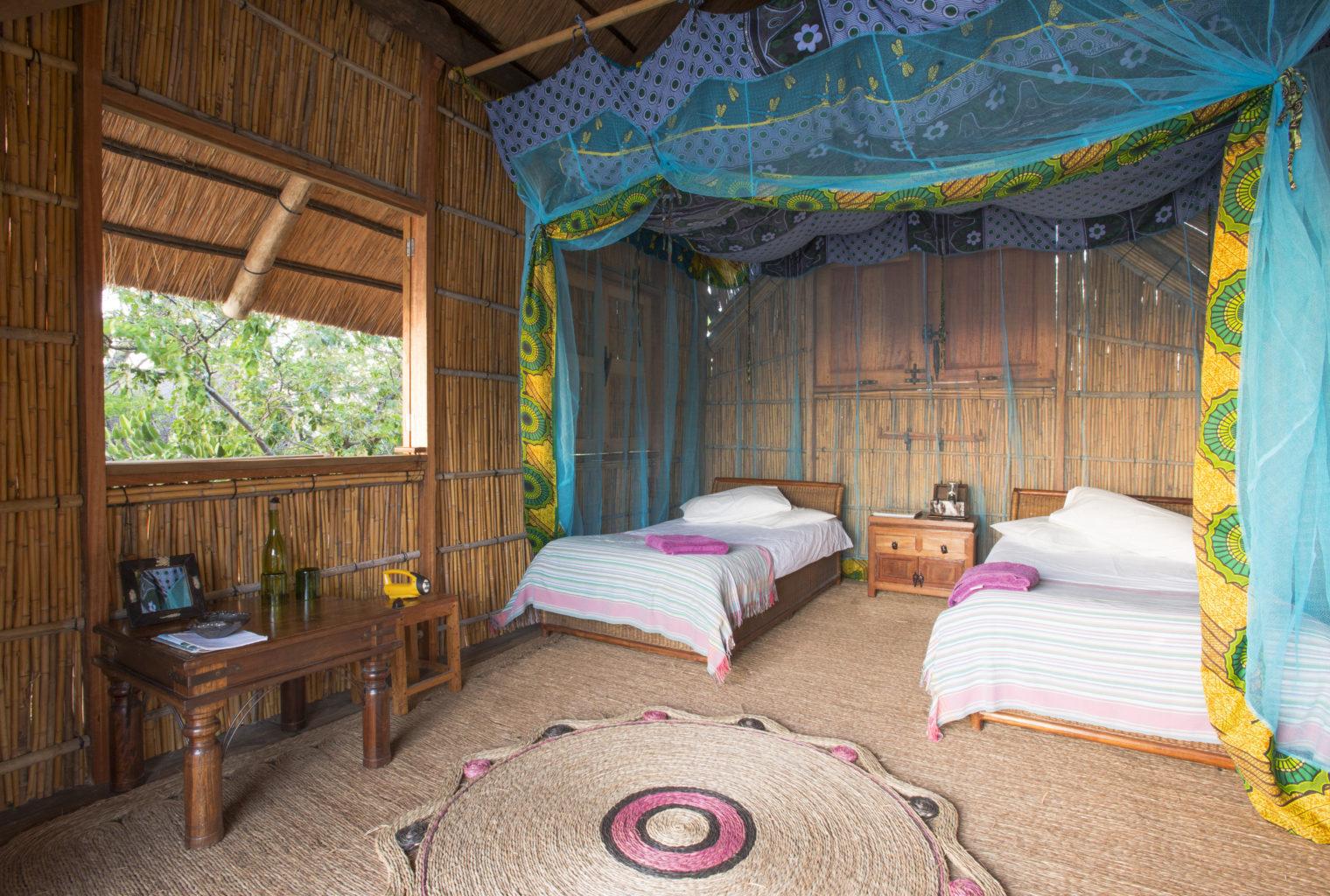 Mumbo Island Lodge Malawi Bedroom