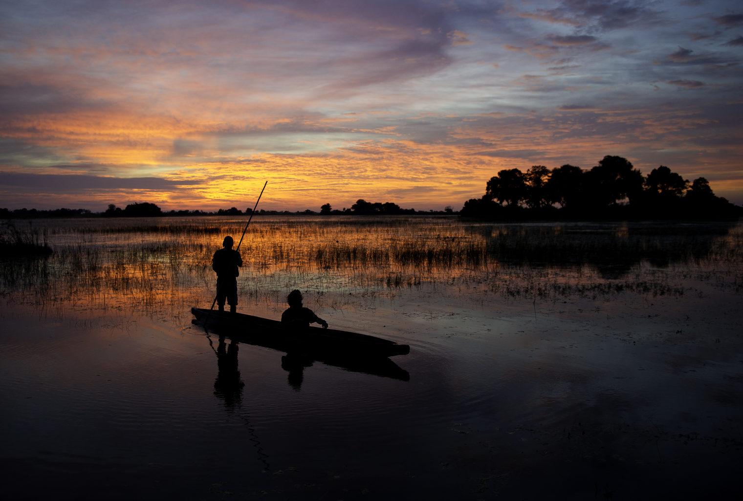 Botswana Tubu Tree Camp Sunset