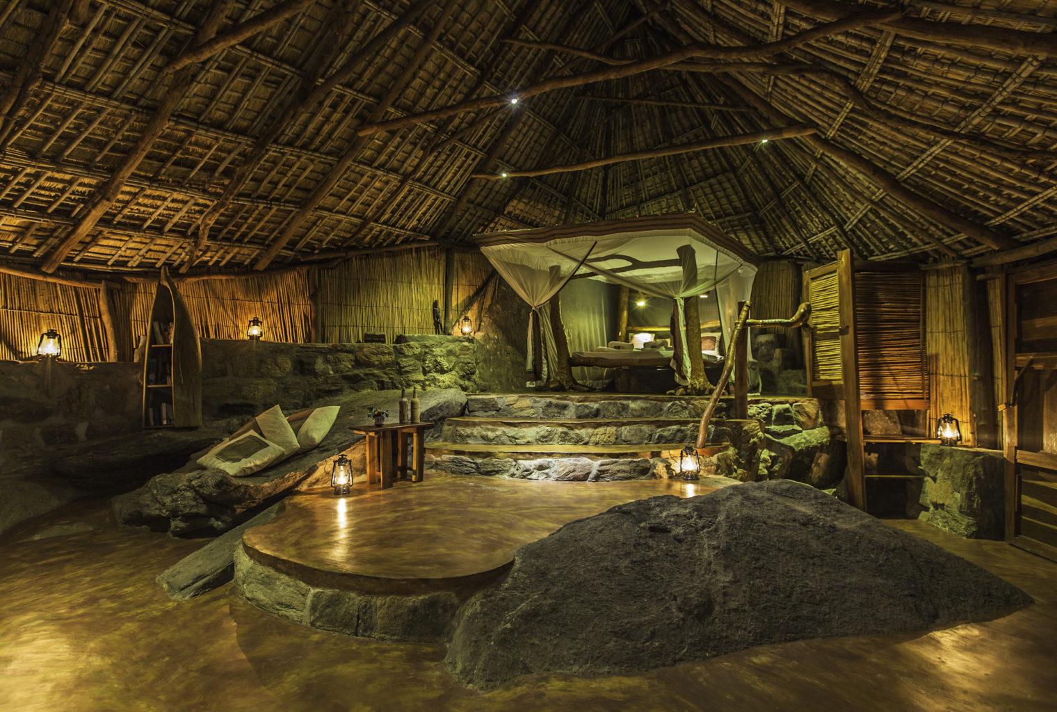 Nkwichi Lodge Malawi Starbed Interior