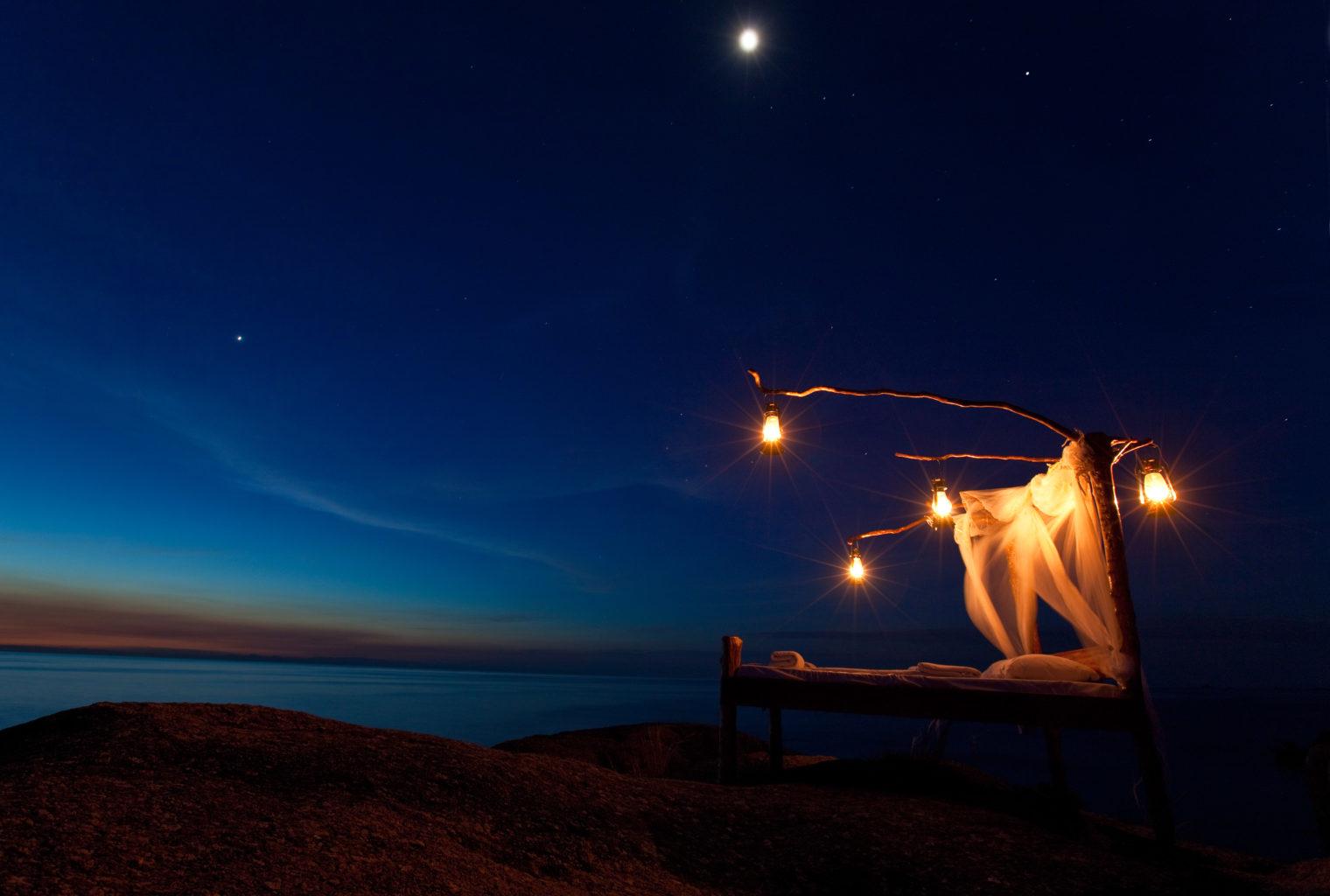 Nkwichi Lodge Malawi Starbed Night