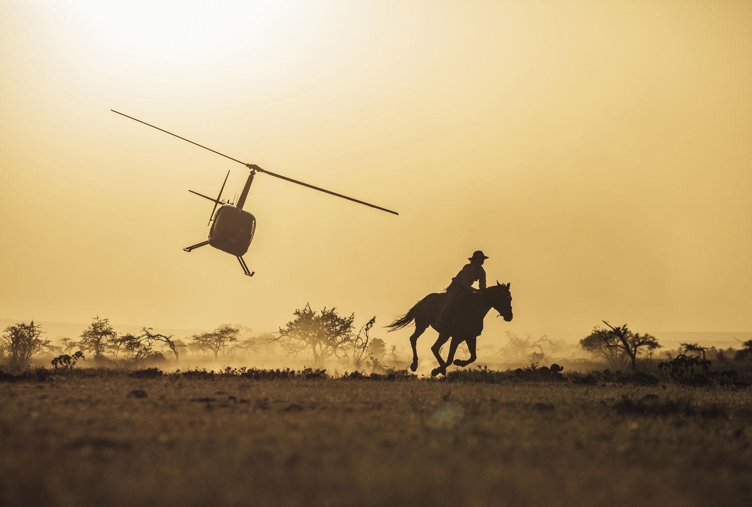 Kenya Laikipia Ol Malo Helicopter Riding