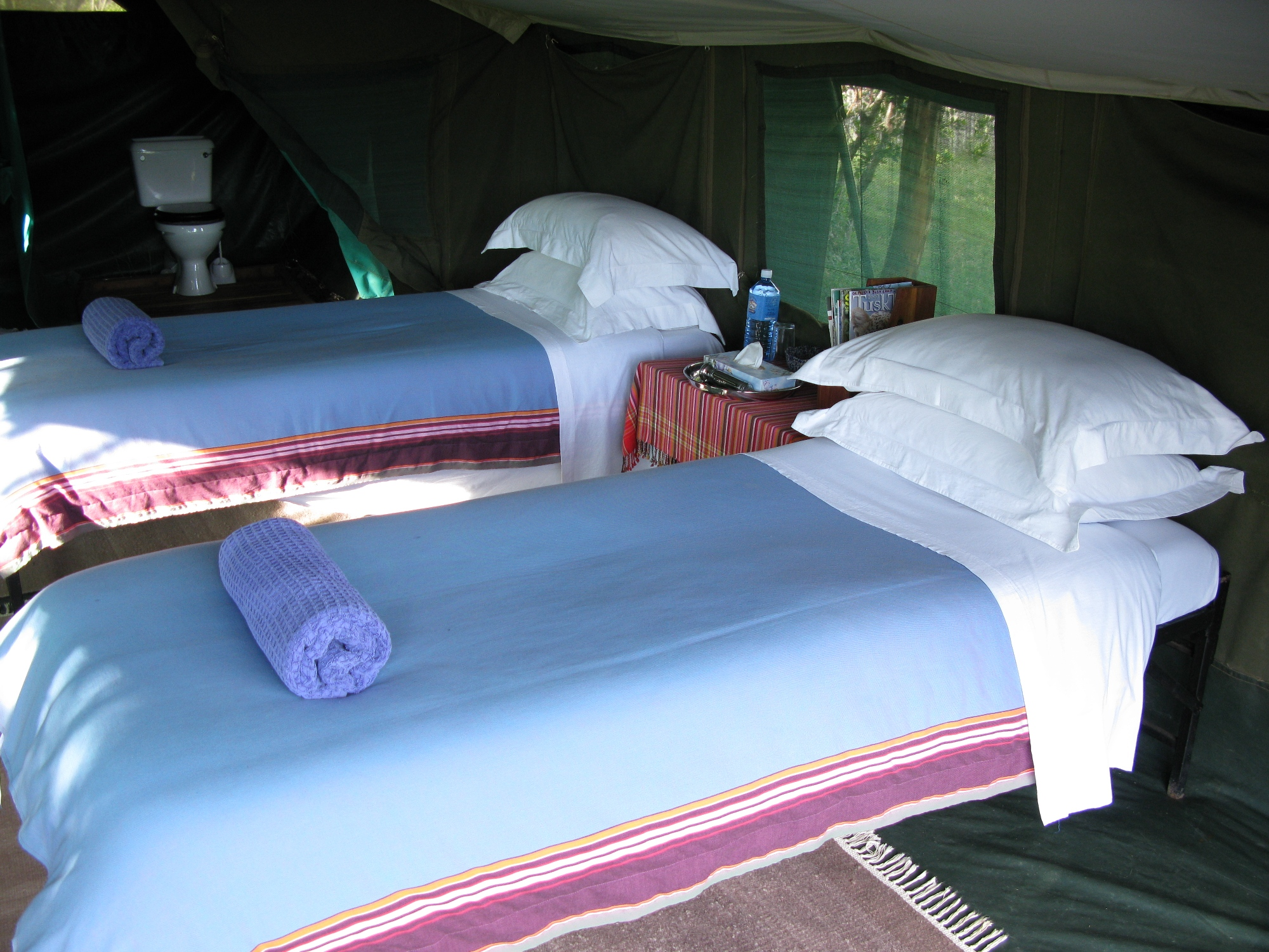 Ol Pejeta bush Camp Kenya Twin Beds