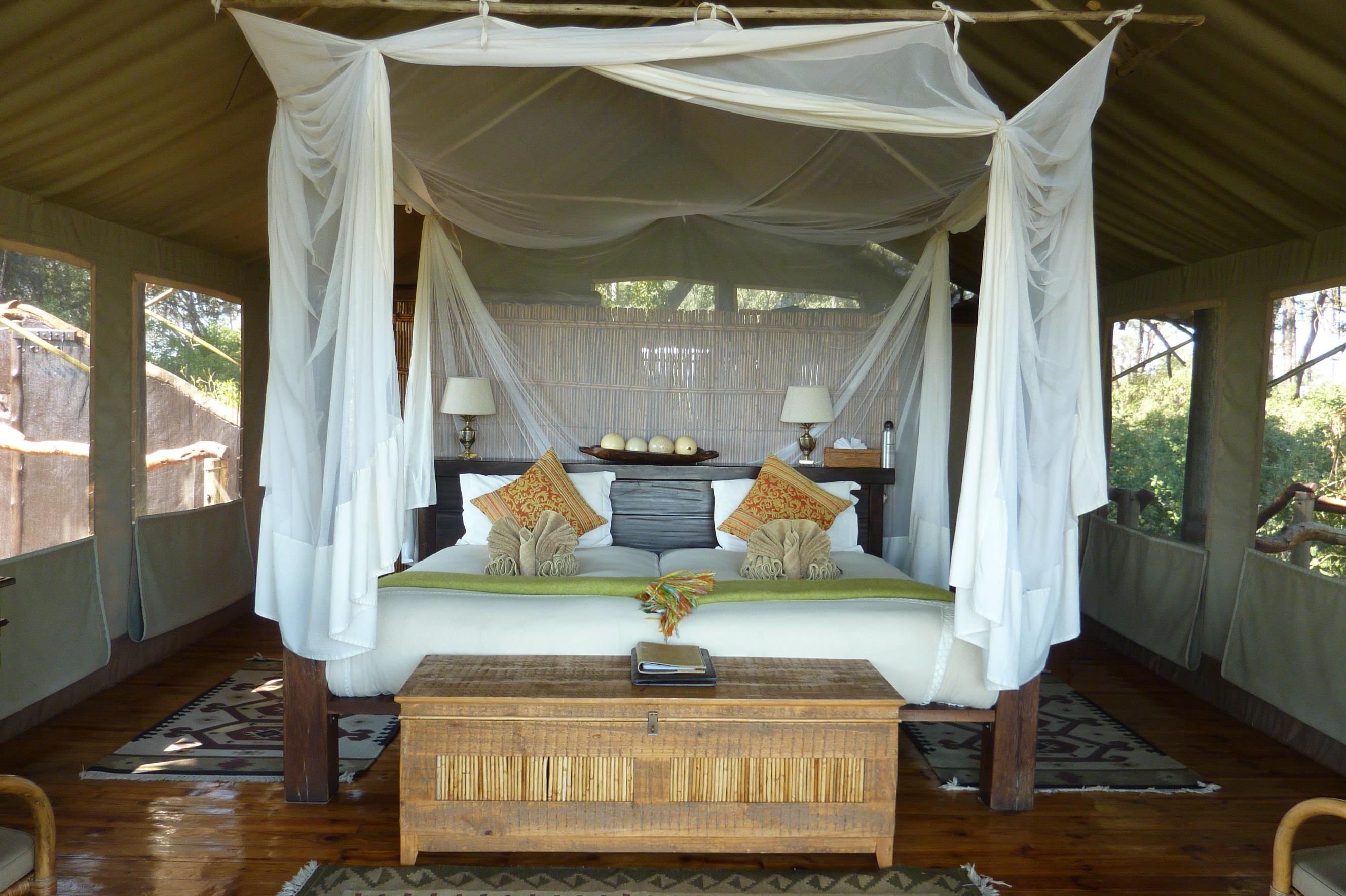 Botswana Tubu Tree Camp Little Tubu Bed