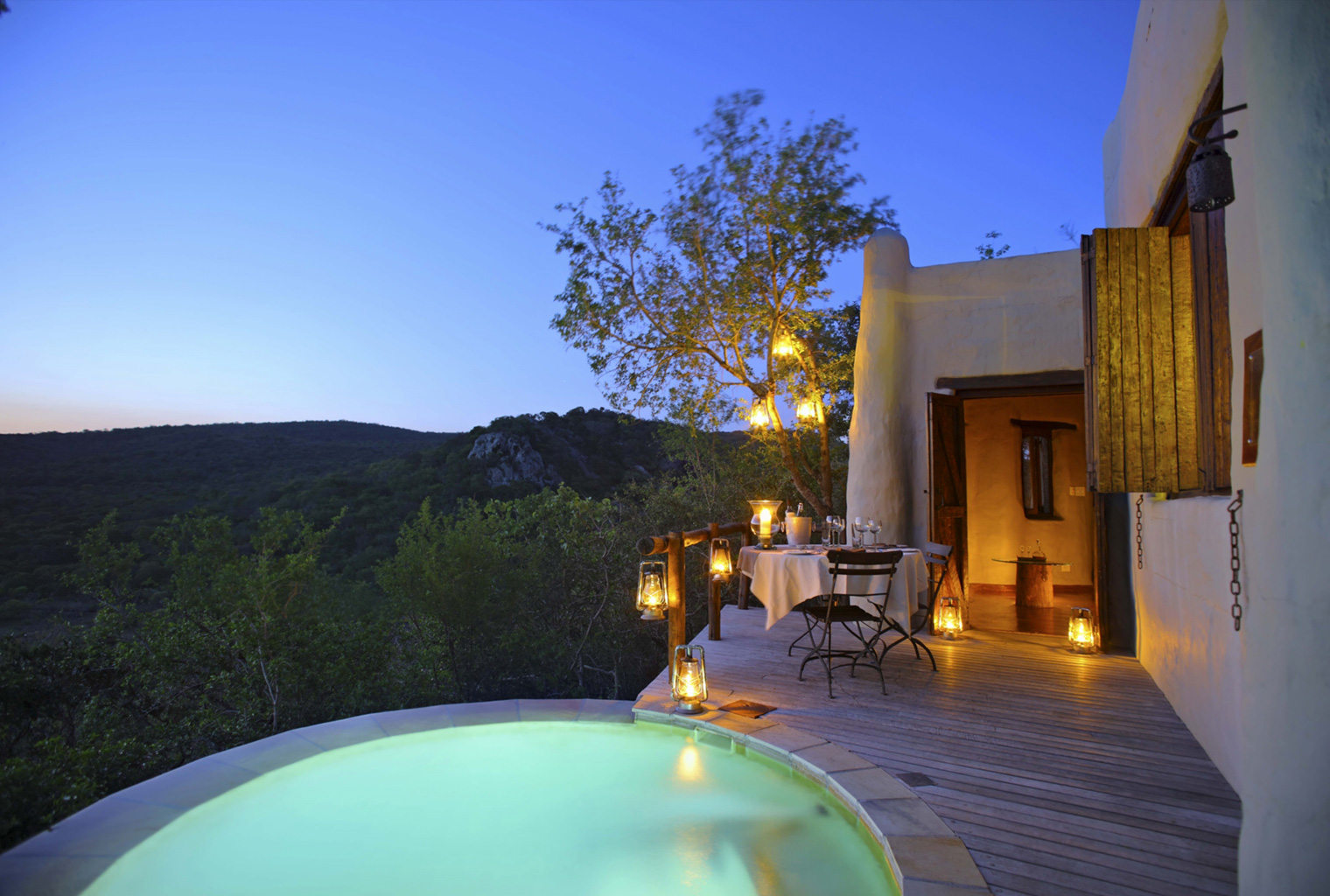 Phinda-Rock-Lodge-South-Africa-Pool-Night
