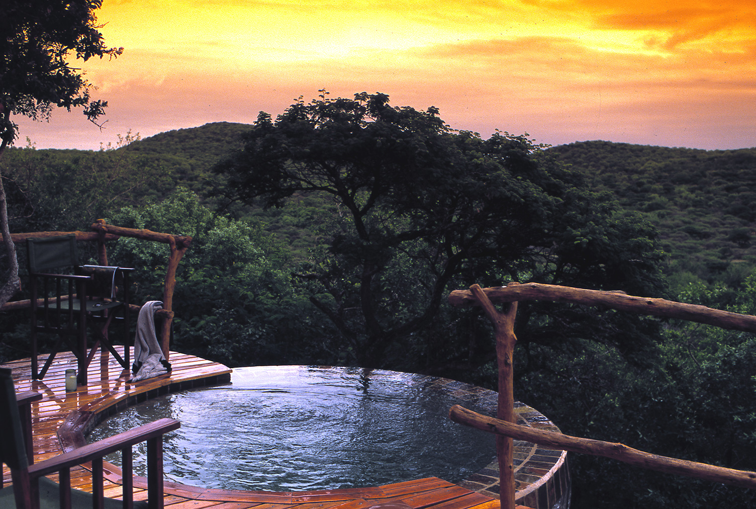 Phinda-Rock-Lodge-South-Africa-Pool-Sunset