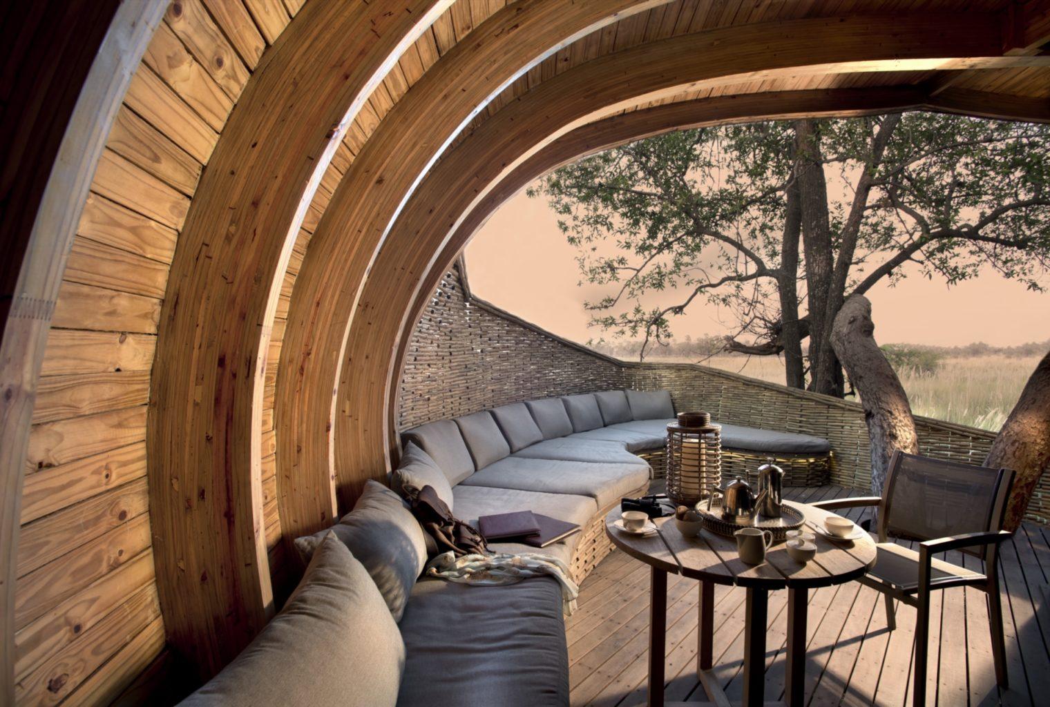 Lounge Area, Sandibe, Okavango Delta, Botswana